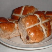 My dad bought hot cross buns to eat, but did not know that these are associated with the Easter belief